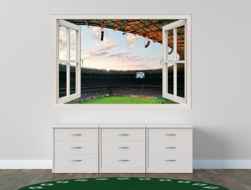 מדבקת חלון 3D | משחק ברצלונה נגד מדריד