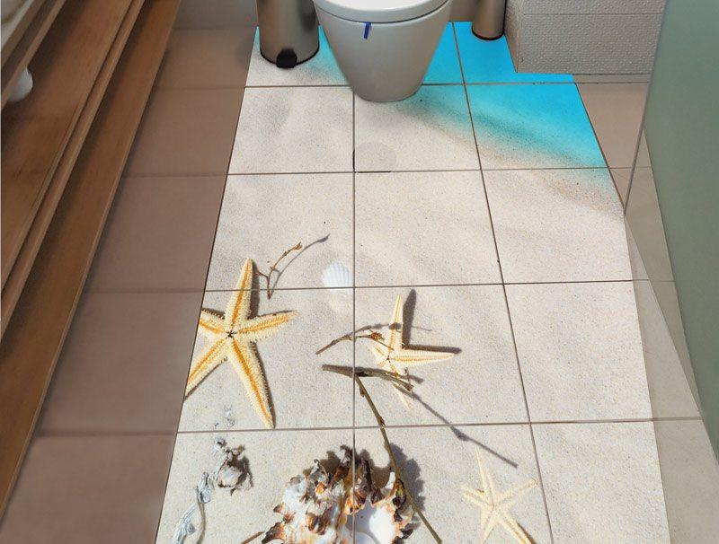 מדבקות רצפה   חוף ים