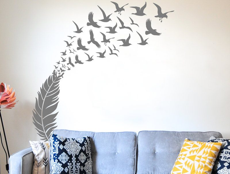 מדבקת קיר | נוצת החופש