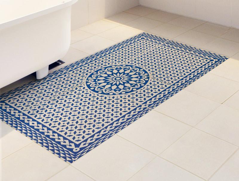מדבקת אריחים   שטיח פסיפס