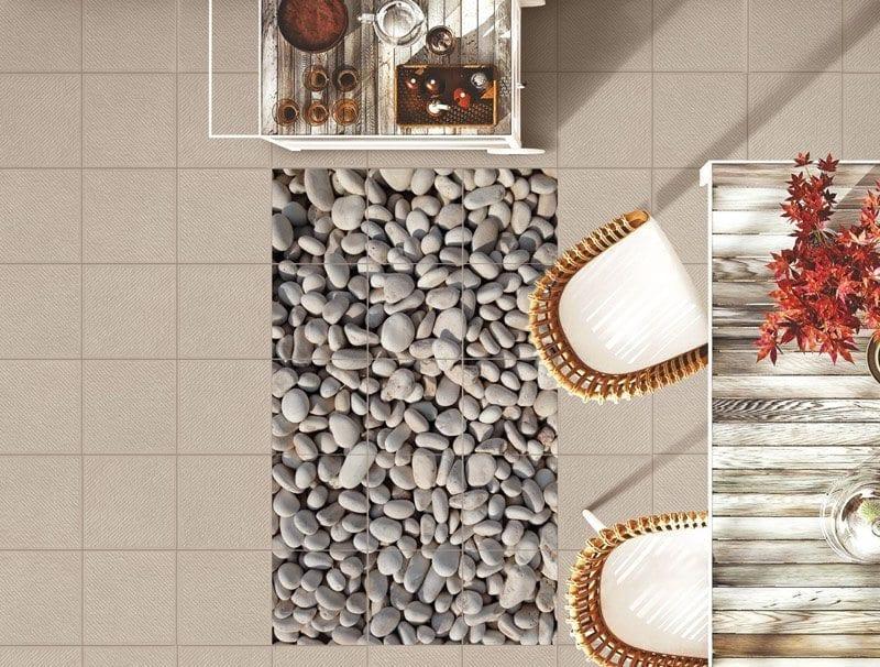 מדבקות רצפה   אבנים קטנות