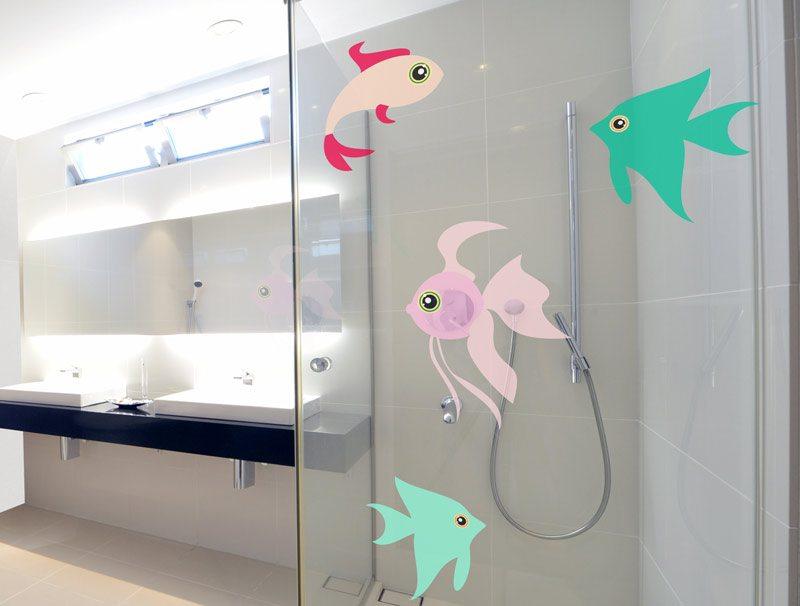 מדבקה לזכוכית | דגים