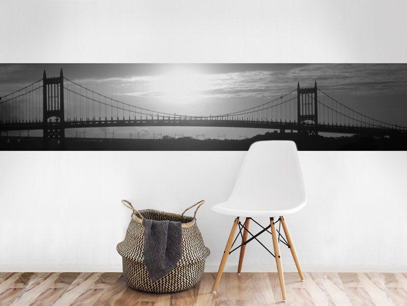 מדבקת קיר   בורדר גשר סן פרנסיסקו שחור לבן