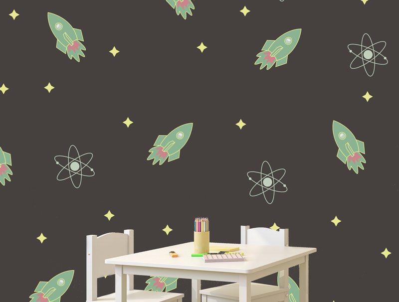 טפט מדבקה | חלליות בחלל