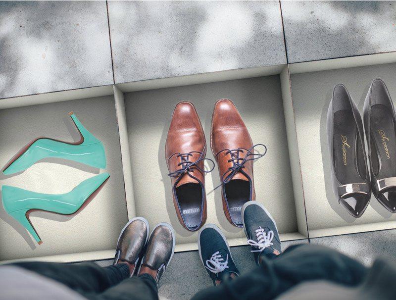 מדבקות נישה לרצפה   קופסאות נעליים