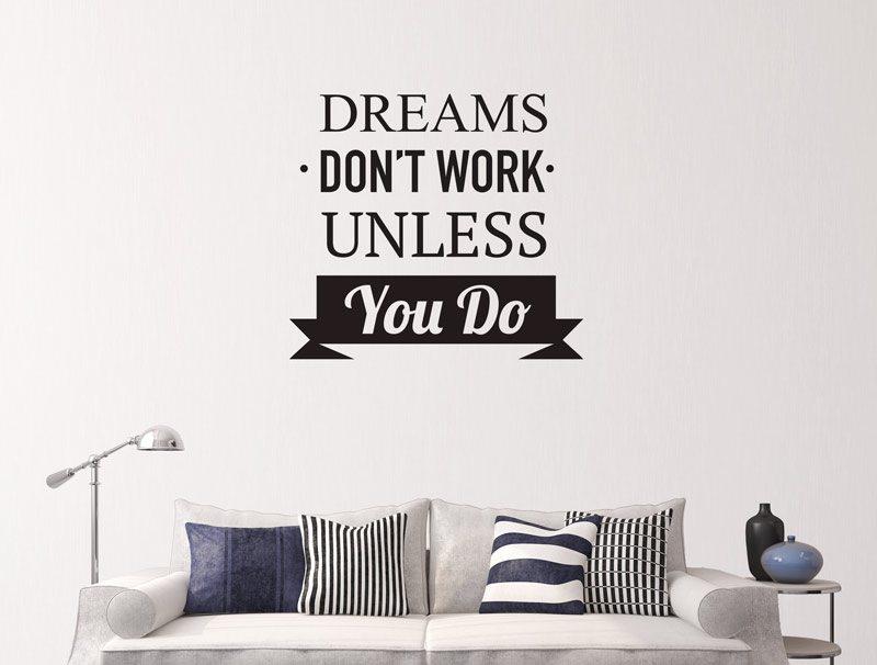 מדבקת קיר | על חלומות