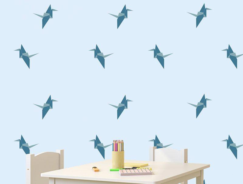 טפט מדבקה | אוריגמי