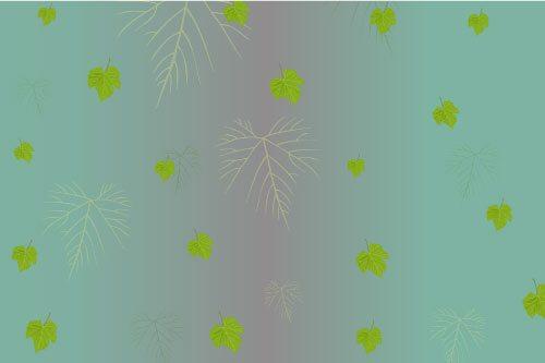 טפט מדבקה   עלים ירוקים