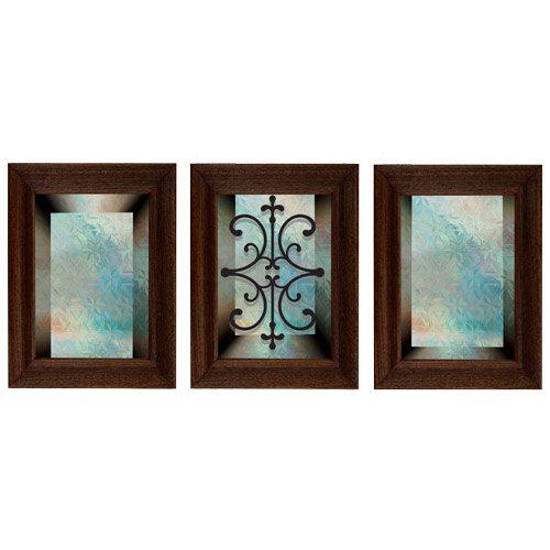 מדבקת קישוט לדלת   זכוכית טורקיז לדלת
