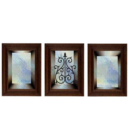 מדבקת קישוט לדלת    זכוכית כחולה לדלת