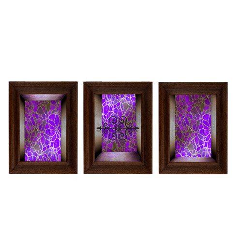 מדבקת קישוט לדלת   זכוכית ורודה לדלת