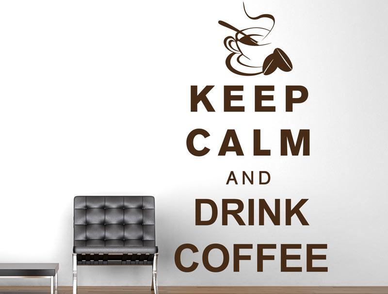 מדבקת קיר | קפה