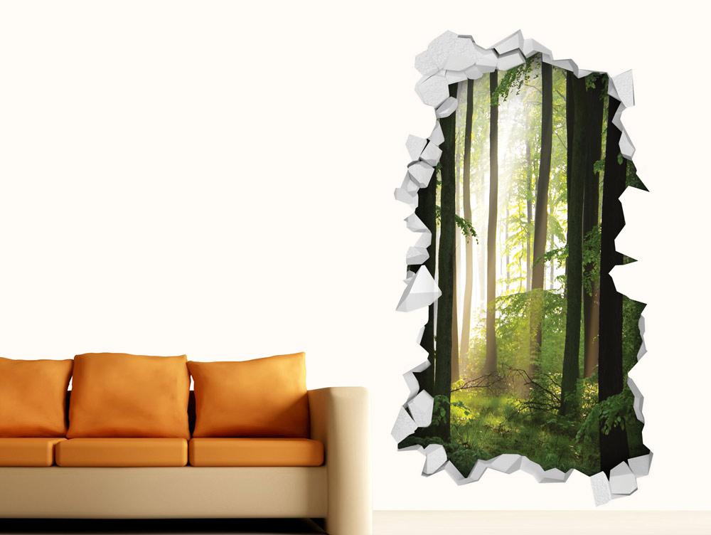 מדבקת קיר   חור בקיר יער
