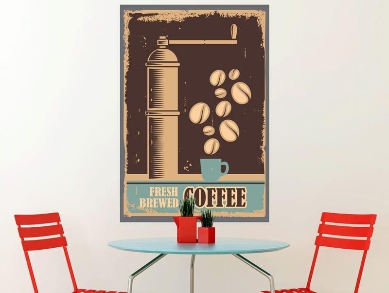 מדבקת קיר | קפה וינטג'