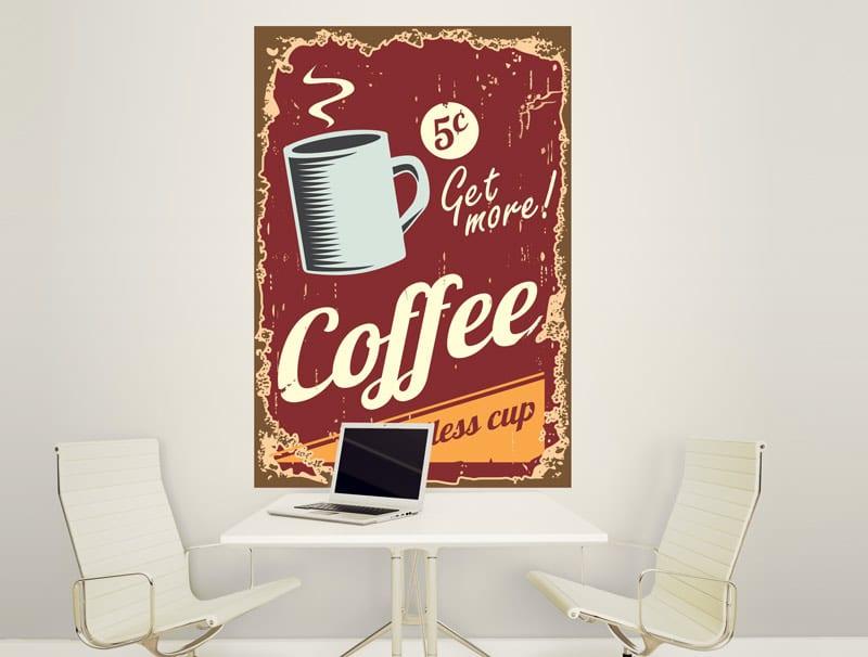 מדבקת קיר | תשתה עוד קפה