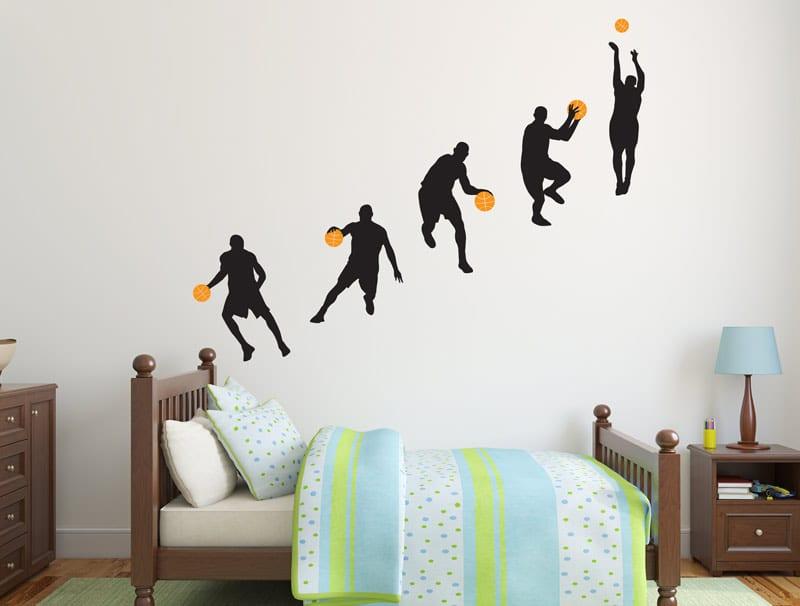 מדבקת קיר | כדורסלנים