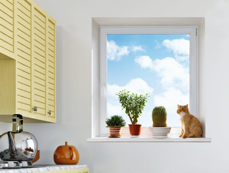 מדבקת קיר | חלון תלת מימדי