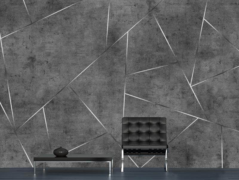 Wallpaper \ Shapes are designed in dark gray