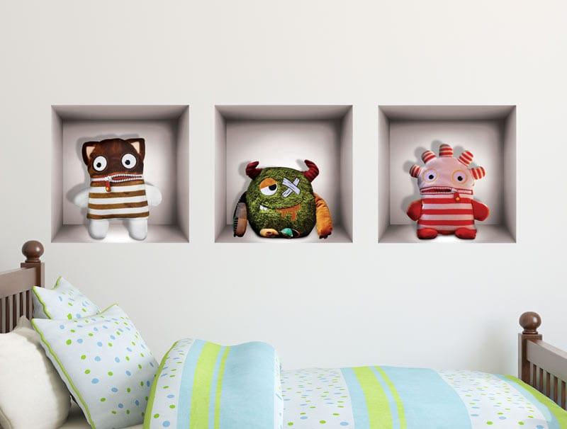 מדבקת קיר   נישות צעצועים מפלצתיים