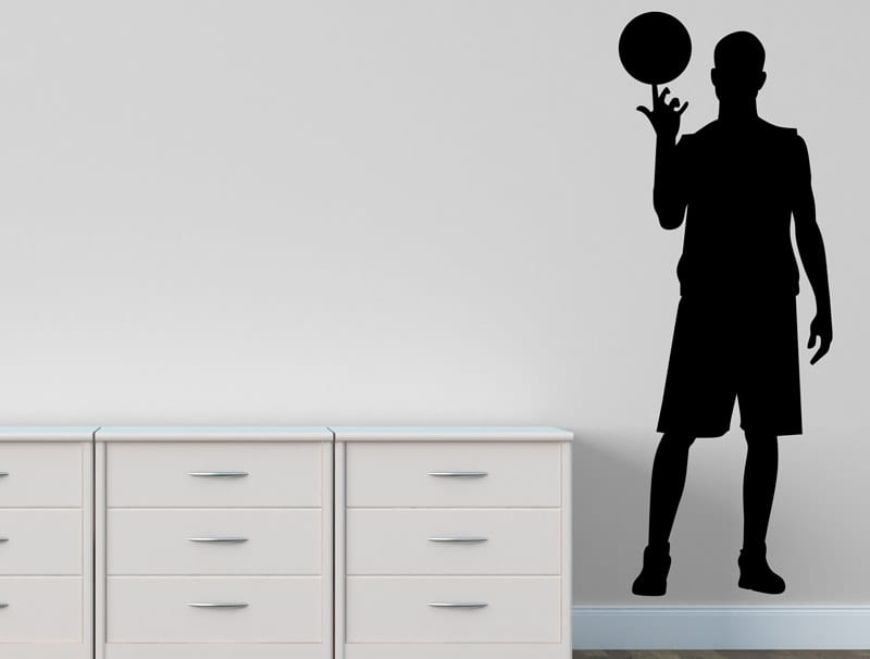 מדבקת קיר | שחקן כדורסל