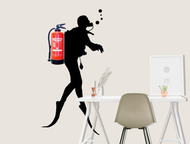 מדבקת קיר | צוללן
