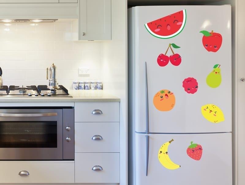 מדבקת קיר | פירות שמחים