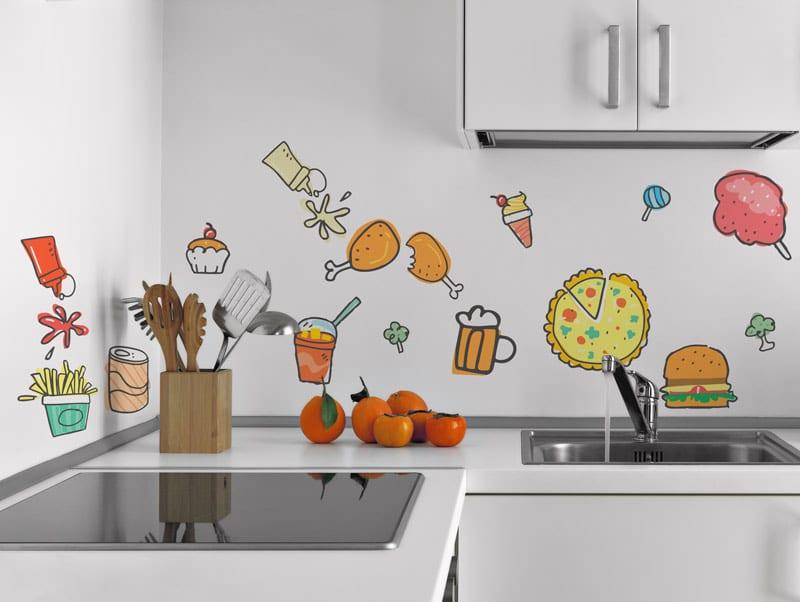 מדבקת קיר | אוכל צבעוני