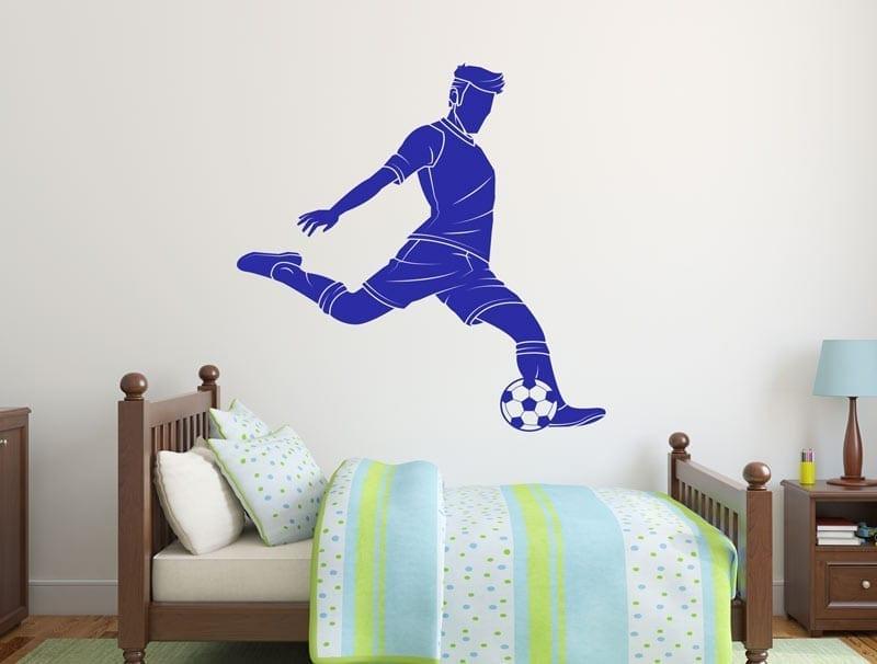 מדבקת קיר | שחקן כדורגל מרשים
