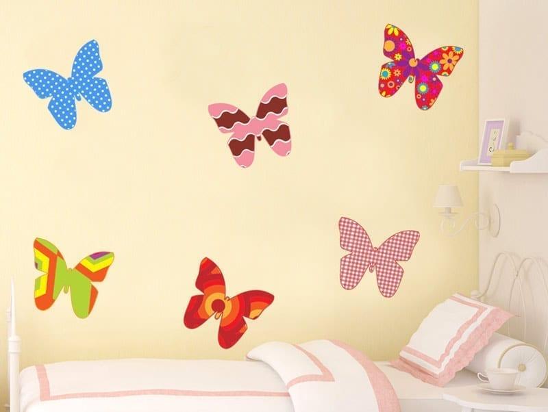 מדבקת קיר | פרפרים ססגוניים
