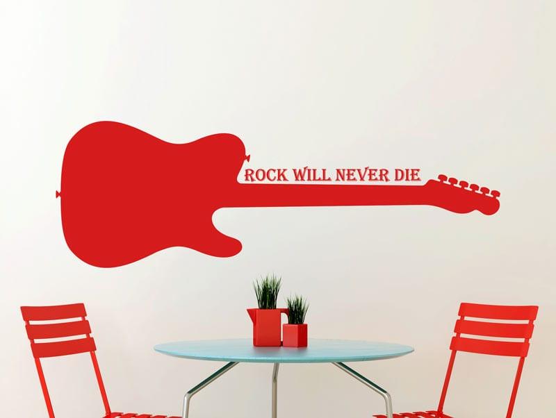 מדבקת קיר | גיטרה חשמלית ומשפט