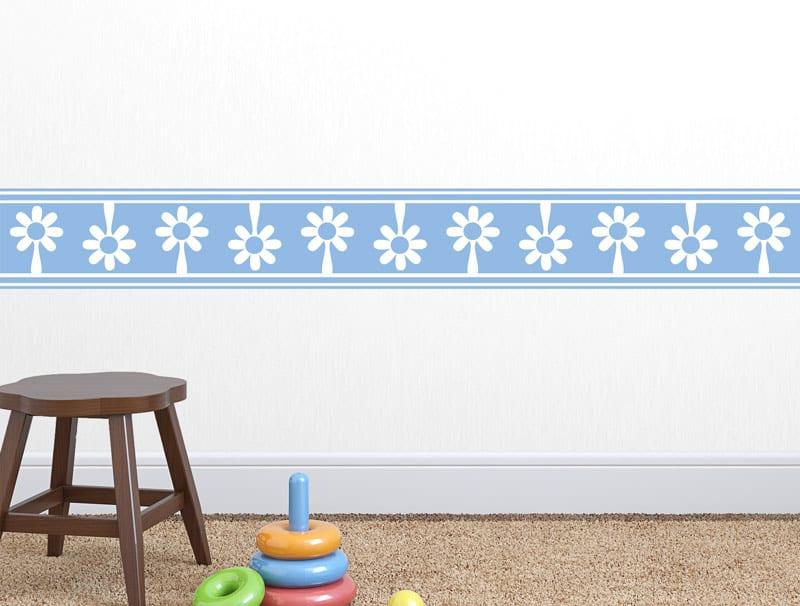 מדבקת בורדר   בורדר בעיצוב כחול בהיר
