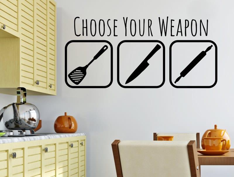 מדבקת קיר | נשק לבחירה - מטבח