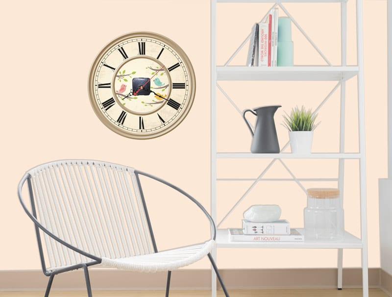 מדבקת קיר | שעון קיר אביבי