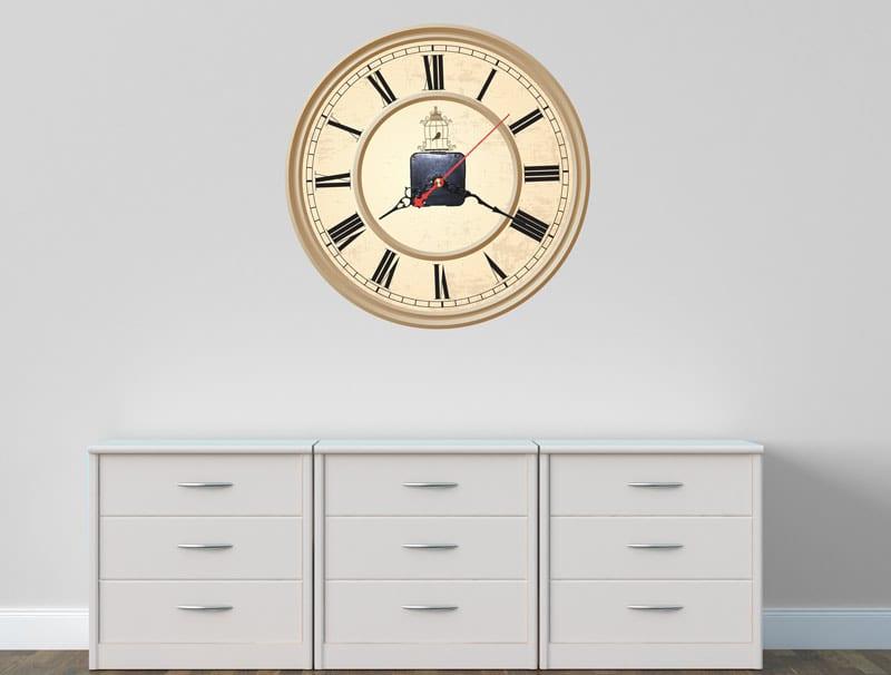 מדבקת קיר | שעון וינטג'