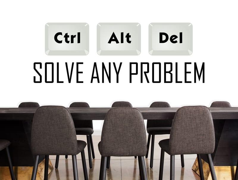 מדבקת קיר   Ctrl + Alt + Delete