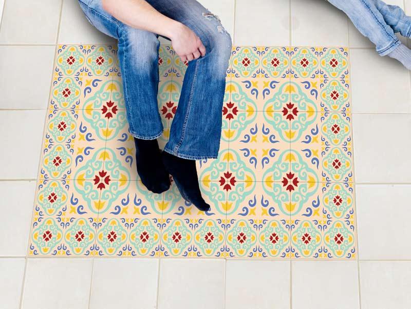 מדבקת רצפה   עיצוב אביבי
