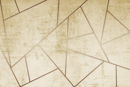 מדבקת טפט   צורות מעוצבות דמוי זהב