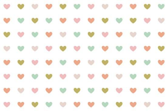 מדבקת טפט | לבבות קטנים