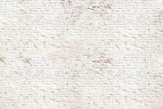 מדבקת טפט   קיר בריקים לבן עתיק