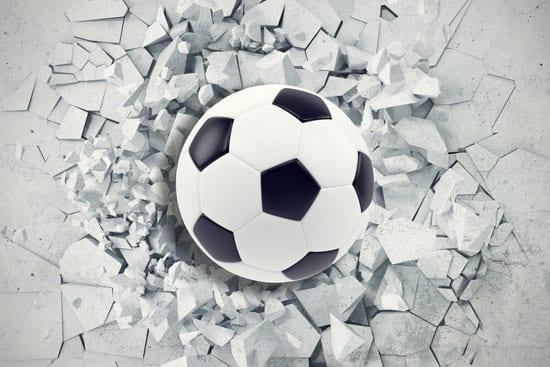 מדבקת טפט | כדורגל עוצמתי