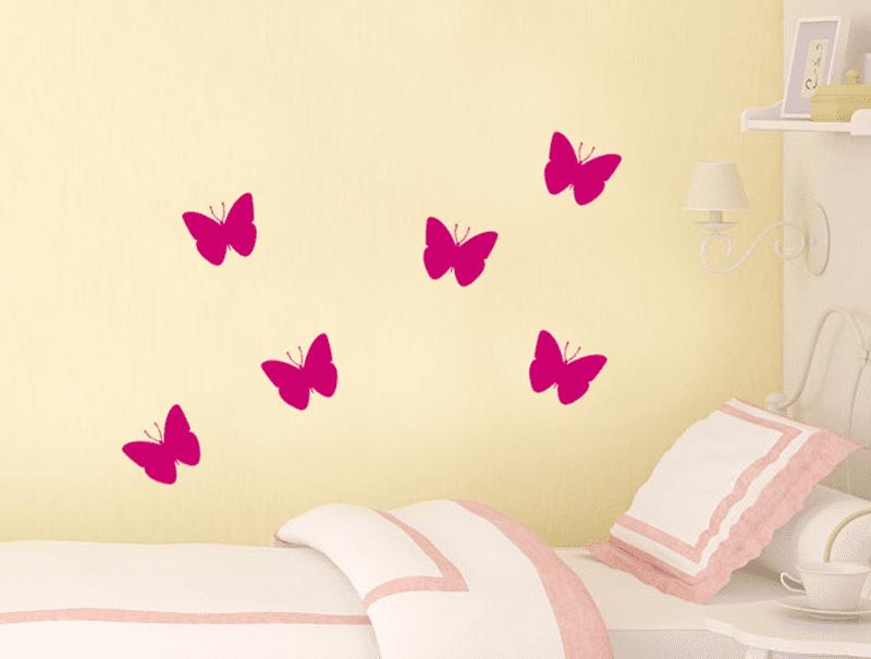 סט מדבקות - פרפרים
