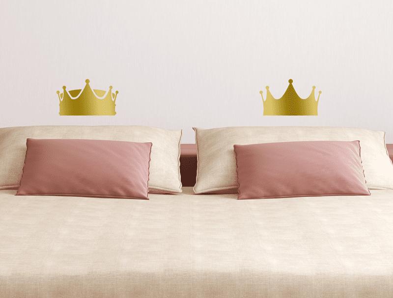 זוג מדבקות כתר מלך ומלכה