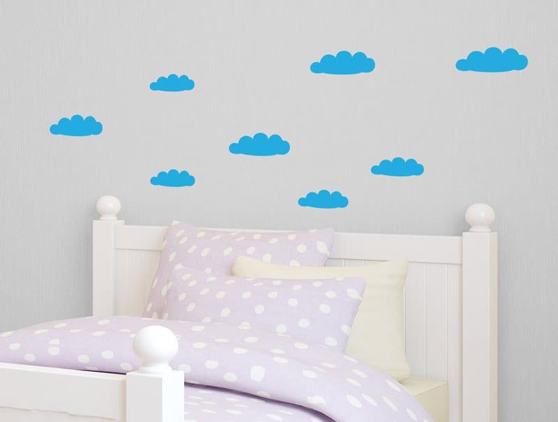 סט מדבקות עננים חמודים