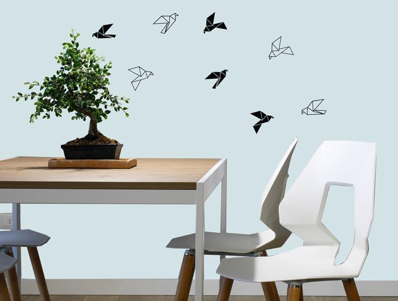 סט מדבקות – ציפורי נייר