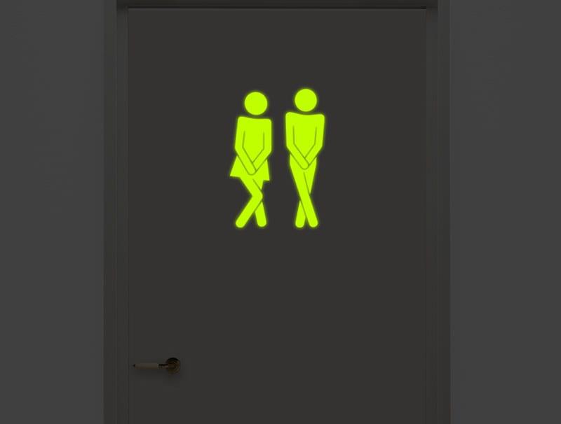מדבקה זוהרת בחושך לשירותים