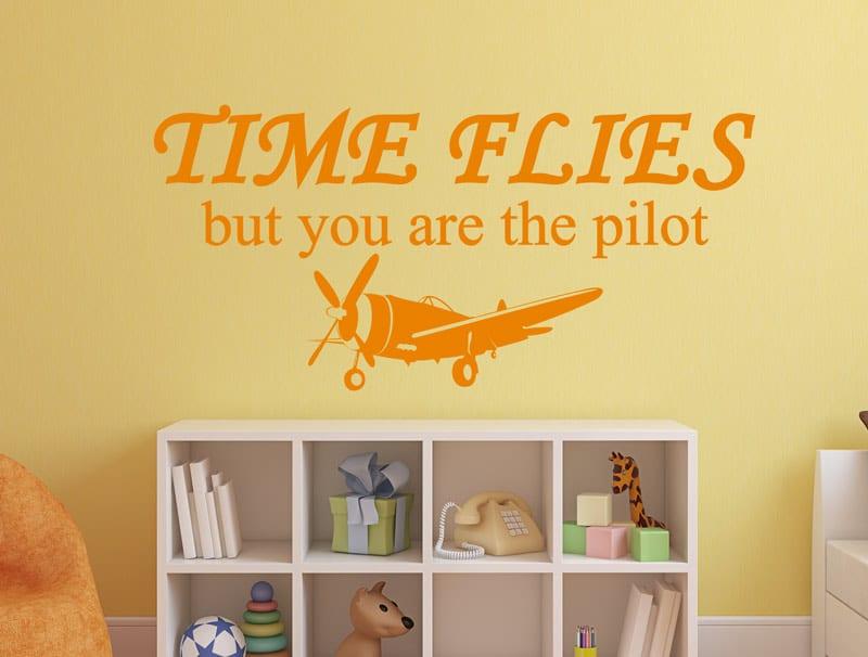 מדבקת השראה ״הזמן עף״
