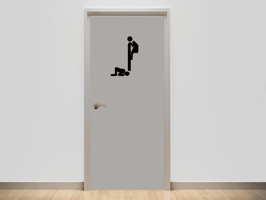 מדבקה מעוצבת לשירותים