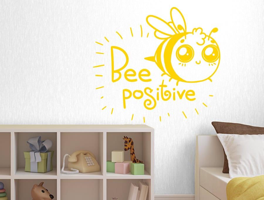 מדבקת קיר דבורה חיובית