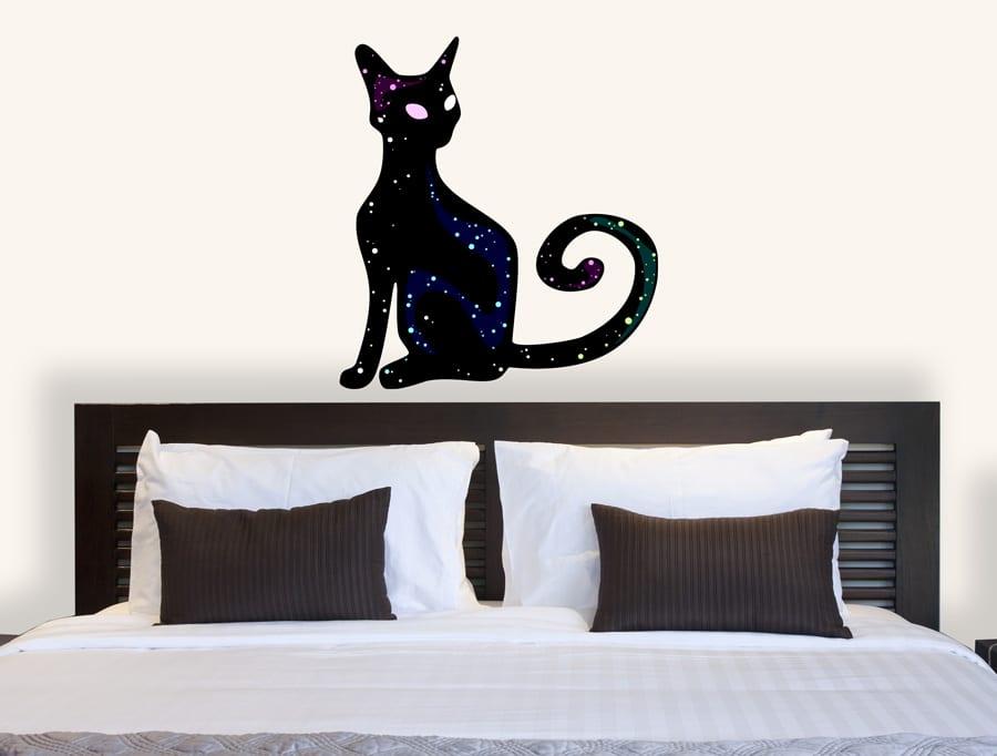 מדבקת קיר חתול מהחלל