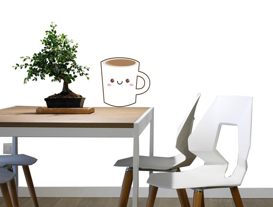 מדבקה - ספל קפה חמוד